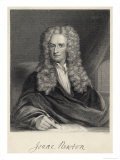 Sir Isaac Newton Mathematician Physicist Occultist Lámina giclée por William Holl