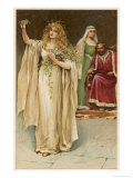 Hamlet, Ophelia Goes Mad Giclee Print by Walter Paget
