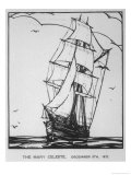 Brigantine Built in Nova Scotia in 1861 Giclee Print by D. Marshall