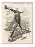 Cecil Rhodes Statesman Financier Imperialist. Caricatured as a Colossus Bestriding Africa Giclee Print by Linley Sambourne