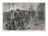 The Battle of Fredericksburg: Cobb's and Kershaw's Men Behind the Stone Wall Giclee Print by A.c. Redwood