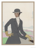 Smartly Dressed for a Ride Giclee Print by  Berlinger