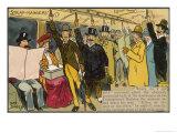 London Underground: Strap-Hangers Giclee Print by George Davey