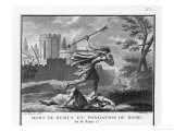 Romulus Founds Rome and Kills Remus When He Mocks It Giclee Print by Augustyn Mirys
