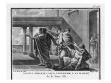Caius Gracchus is Begged by His Wife Licinia to Flee Giclee Print by S.d. Mirys