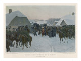 Napoleon Deserts the Grand Army at Smorgoni and Returns to Paris Giclee Print by J. Rosen