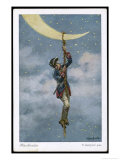 The Baron Climbs to the Moon Premium Giclee Print by O. Herrfurth