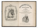 Frontispiece and Title Page of Physiology of Taste by Brillat Savarin Giclee Print by Gabriel De Gonet