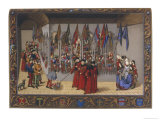 Receiving the Helmets of the Competing Knights Giclee Print by Ronjat