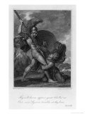Lycaon a Trojan Begs Achilles to Spare Him Giclee Print by Henry Howard
