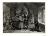 General Scene, Puritan Soldiers Plunder a Monastery Giclee Print by T. Goodman