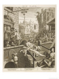 Political Prints Supporting a Ministerial Measure Against the Unlimited Sale of Gin Giclee Print by William Hogarth