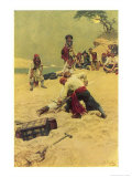 Pirates Disputing Who Shall be Captain Giclee-vedos tekijn Howard Pyle