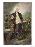 Wolfgang Amadeus Mozart Austrian Musician Giclee Print by V. Janschek