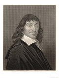 Rene Descartes French Mathematician and Philosopher Giclee Print by William Holl the Younger