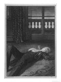 Dorian Gray Lies Dead with a Knife in His Heart Giclee Print by Henry Keen