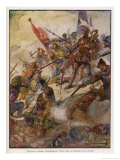 Jean de la Valette Defends the Island Against the Turks Premium Giclee Print by J.r. Skelton