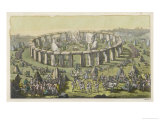Celebrating a Grand Conventional Festival at Stonehenge Giclee Print by S.m. Meyrick