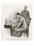 The Naval Treaty Holmes Busy with His Chemistry Apparatus at Baker Street Giclee Print by Sidney Paget
