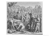 The Fall of Rome Alaric after Sacking Rome Dies and is Buried in the Busento Riverbed Giclee-vedos tekijänä H. Leutemann