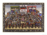 The Competing Knights Line up Before the Tourney Giclee Print by Ronjat
