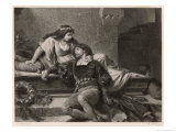 Romeo and Juliet, Act V Scene III: Juliet Wakes in the Vault to Find Romeo Dead Wydruk giclee autor G. Goldberg