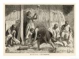 Ethiopian Metalworkers Giclee Print by Henri Lanos