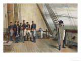 Napoleon after His Second Abdication Reproduction procédé giclée par W.q. Orchardson