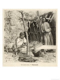 Ethiopian Weavers Giclee Print by Henri Lanos