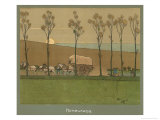 Homeward at Sunset Giclee Print by Cecil Aldin