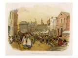 George Eliot Market Day at Milby the Setting for Janets Repentance in Scenes of Clerical Life Giclee Print by G.g. Kilburne