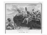 The Gauls Defeat the Romans on the River Allia Giclee Print by Augustyn Mirys