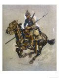German Dispatch Rider Giclée-Druck von Angelo Jank