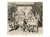 James I Feasting with Spanish Ambassadors Giclee Print by W.b. Rye
