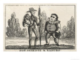 Don Quixote and Sancho Panza Giclee Print by W. Davidson