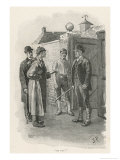 Silver Blaze Holmes is Not Welcomed at the Racing Stables Giclee Print by Sidney Paget