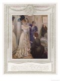 Fashionable Frenchwoman Visits Her Couturier Reproduction procédé giclée par Guillaume