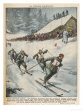 Italian Victory in Ski Team Event at Garmisch Gicleetryck av Vittorio Pisani