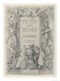 The Frontispiece to J.M.Barrie&#39;s Prose Version of Peter Pan Giclee Print by Francis Bedford