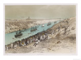 The Procession of Boats Giclee Print by Édouard Riou