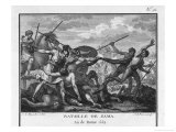 Second Punic War Scipio Africanus Defeats Hannibal at Zama in North Africa Reproduction procédé giclée par Augustyn Mirys