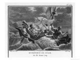 Caesar in a Storm at Sea Giclee Print by Augustyn Mirys