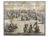 Battle of the Kentish Knock 1st Anglo-Dutch War Giclee Print by Josse Hondius