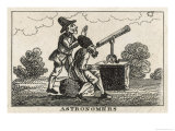 Two Astronomers One of Whom is an Arab Gentleman Examine a Star in the Sky Through a Telescope, Giclee Print