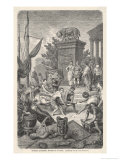 The Romans Admire the Works of Art They Have Looted from Greece Giclee Print by H. Leutemann