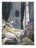 Giovanni Giacomo Casanova Chevalier de Saingalt, with Henrietta at Reggio Giclee Print by Auguste Leroux