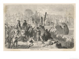 The Battle of Actium: off the West Coast of Greece Giclee Print by H. Leutemann