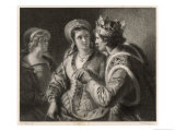 Henry V, His Wooing of Catherine de Valois Giclee Print by Friedrich Pecht