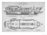 Hms Beagle Charles Darwin&#39;s Research Ship Giclee Print by R.t. Pritchett
