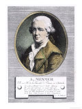 "Portrait of Franz Anton Mesmer Who Discovered ""Animal Magnetism"" or Mesmerism Giclee Print by W. Pallissot"